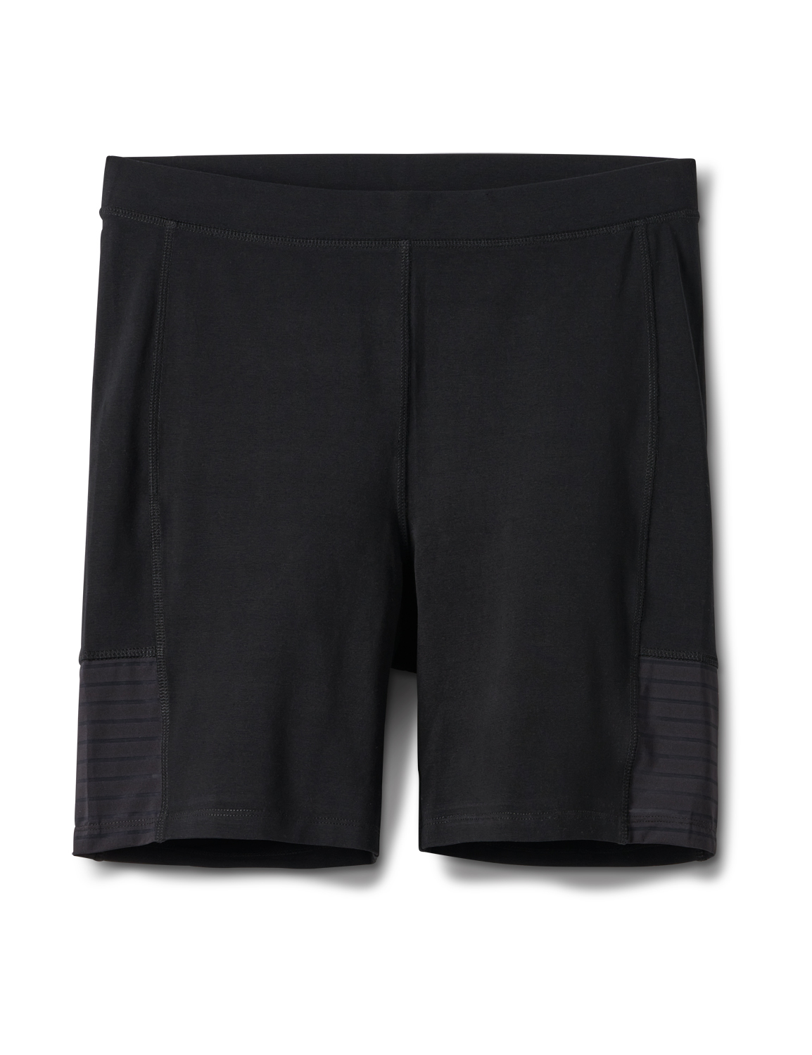 Pima Cotton Bike Short - Plus -Black - Front