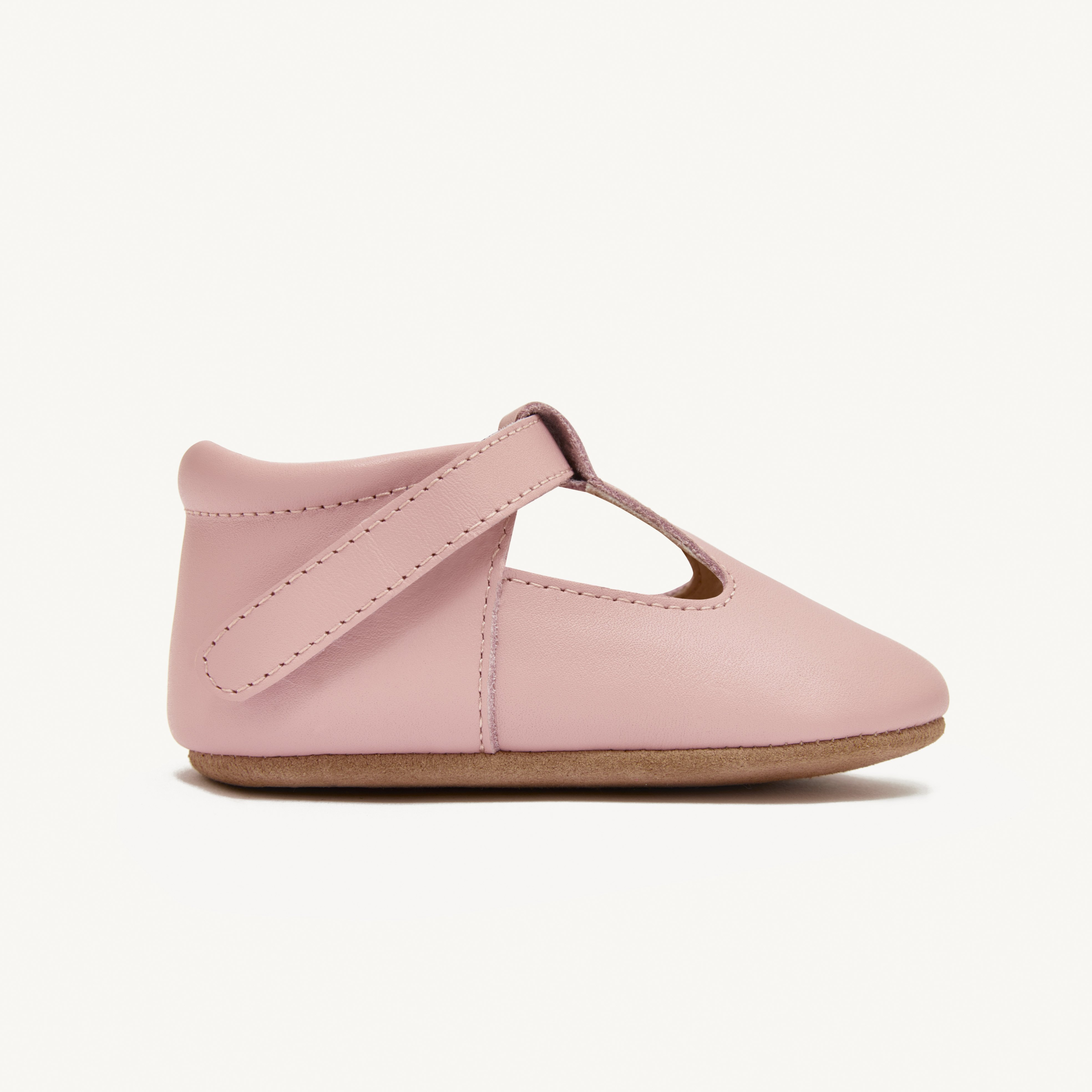luisa blush leather baby mary janes