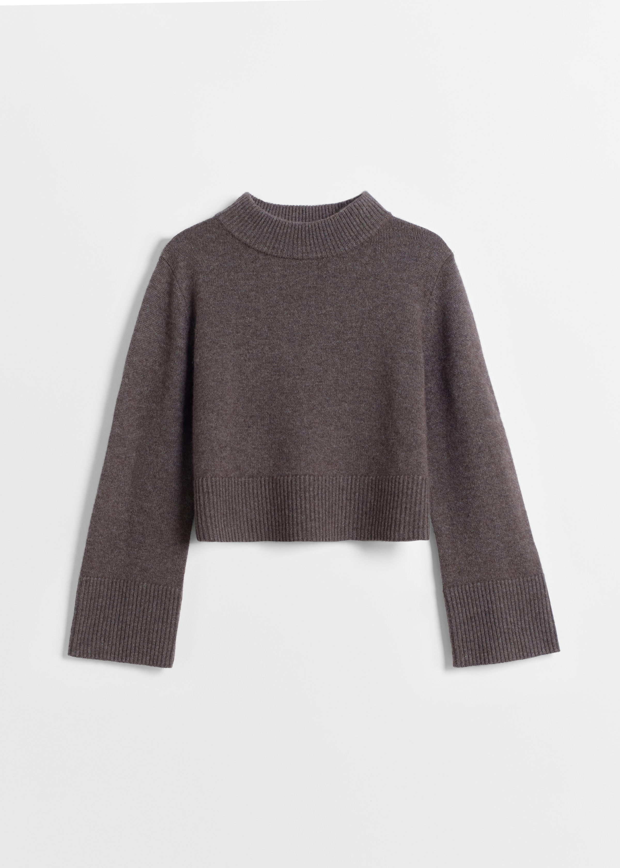 Boxy Crew Neck Sweater - Dove Grey in Brown by Co Collections