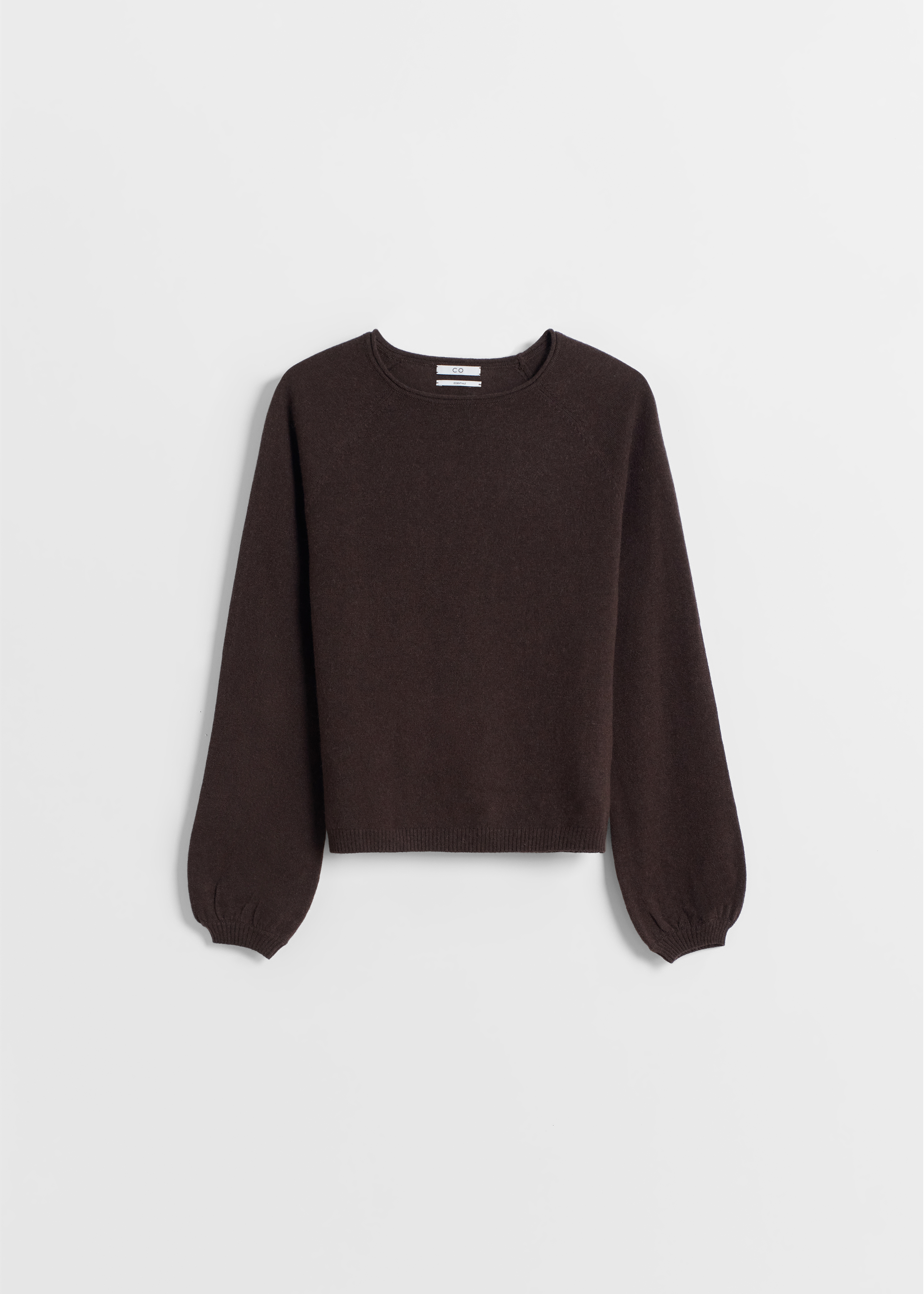 Raglan Peasant Sleeve Sweater - Black in Brown by Co Collections