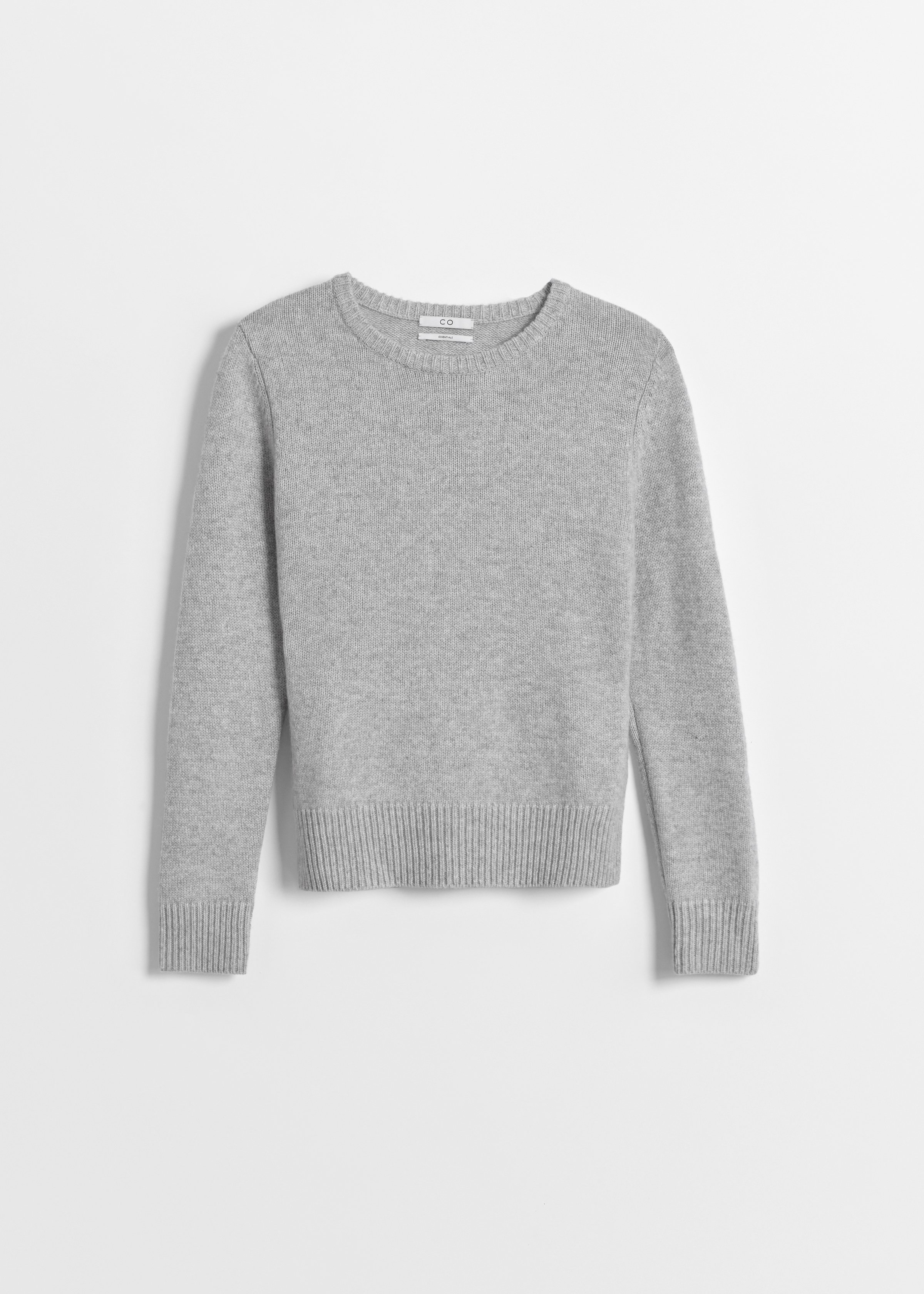 Cashmere Crew Neck Sweater - Light Grey - CO
