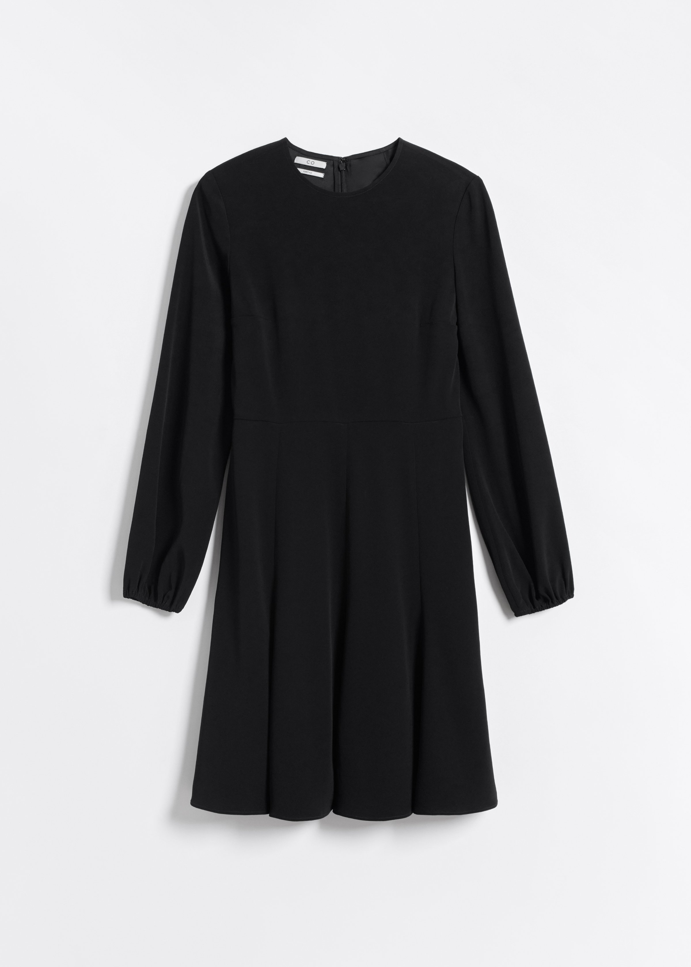 Peasant Sleeve Short Dress - Black - CO
