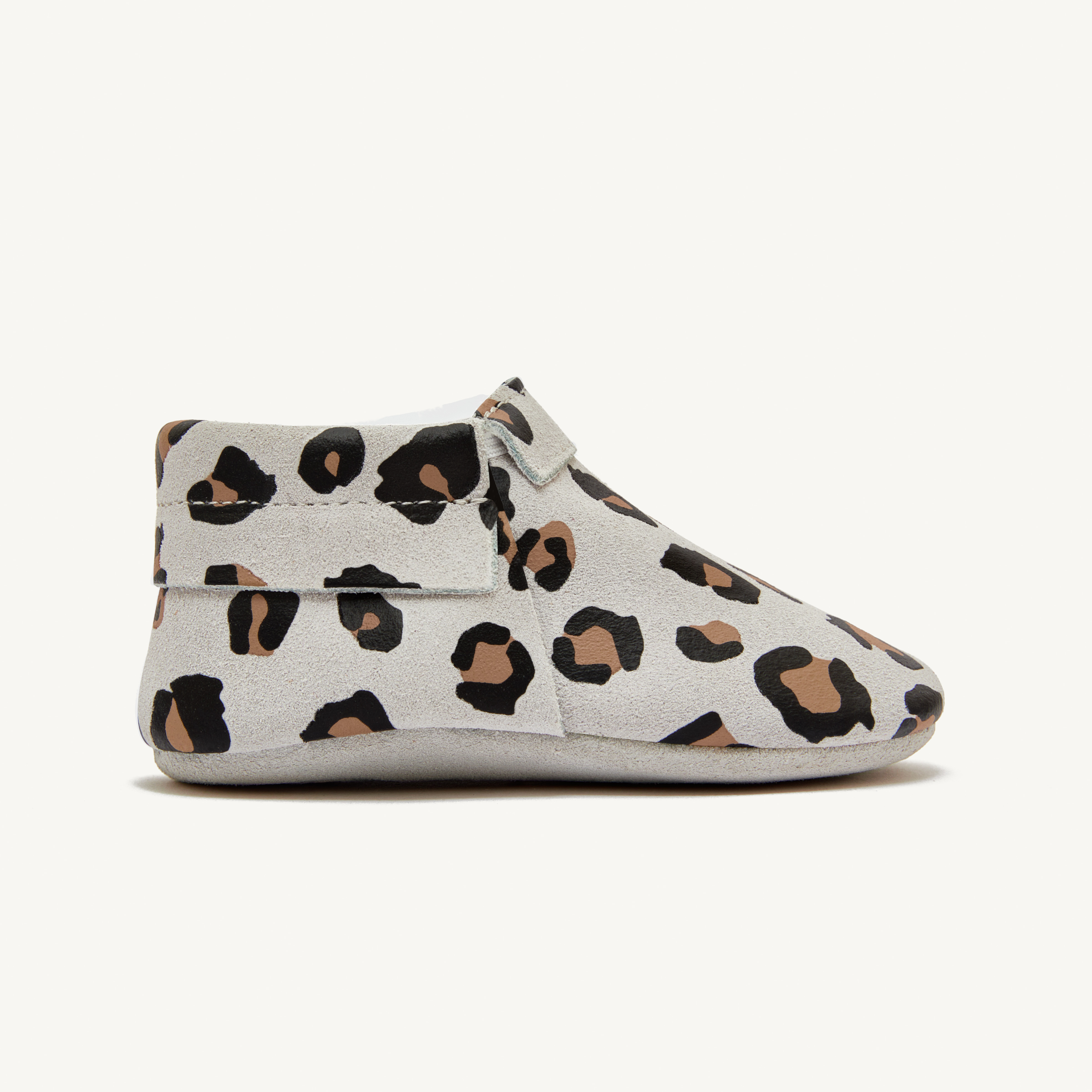 sunny leopard baby moccasins