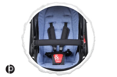 patented tidy 5-point harness system