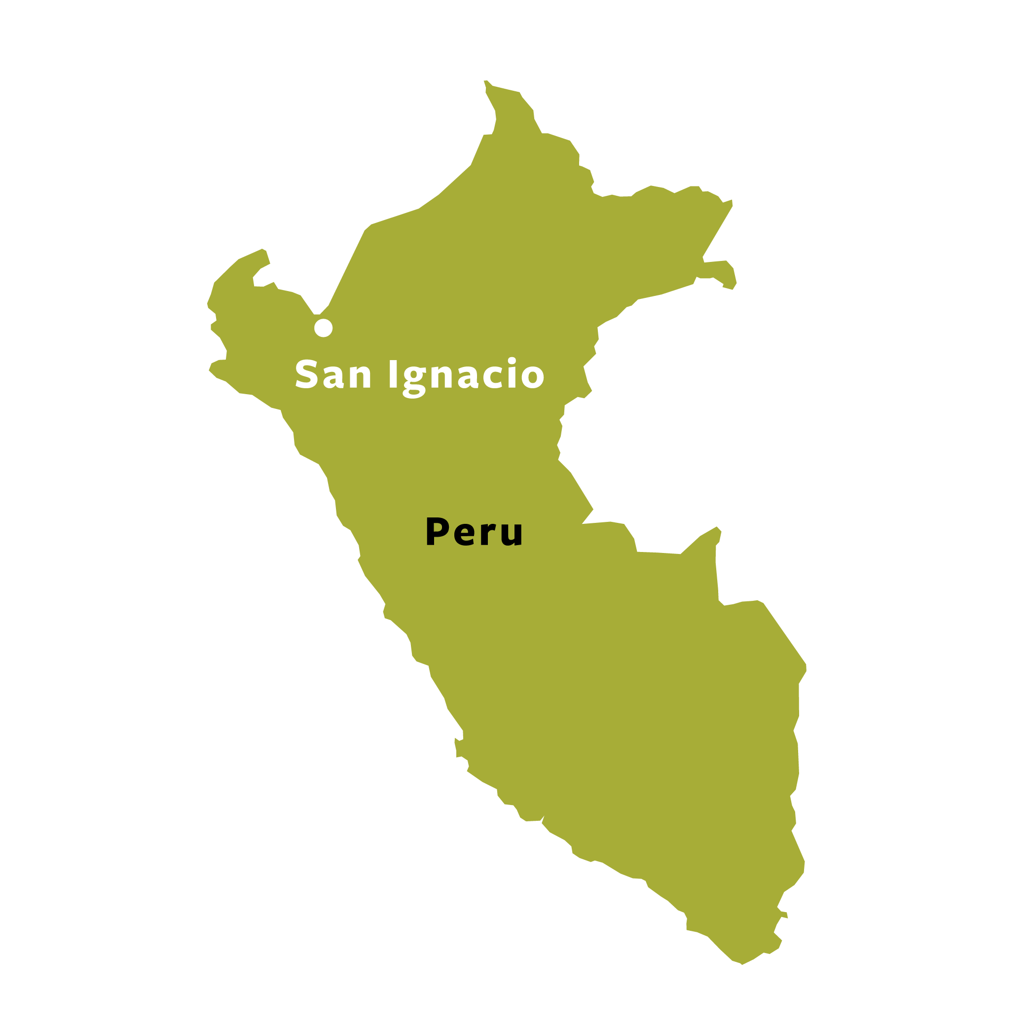 Map of San Ignacio, Peru