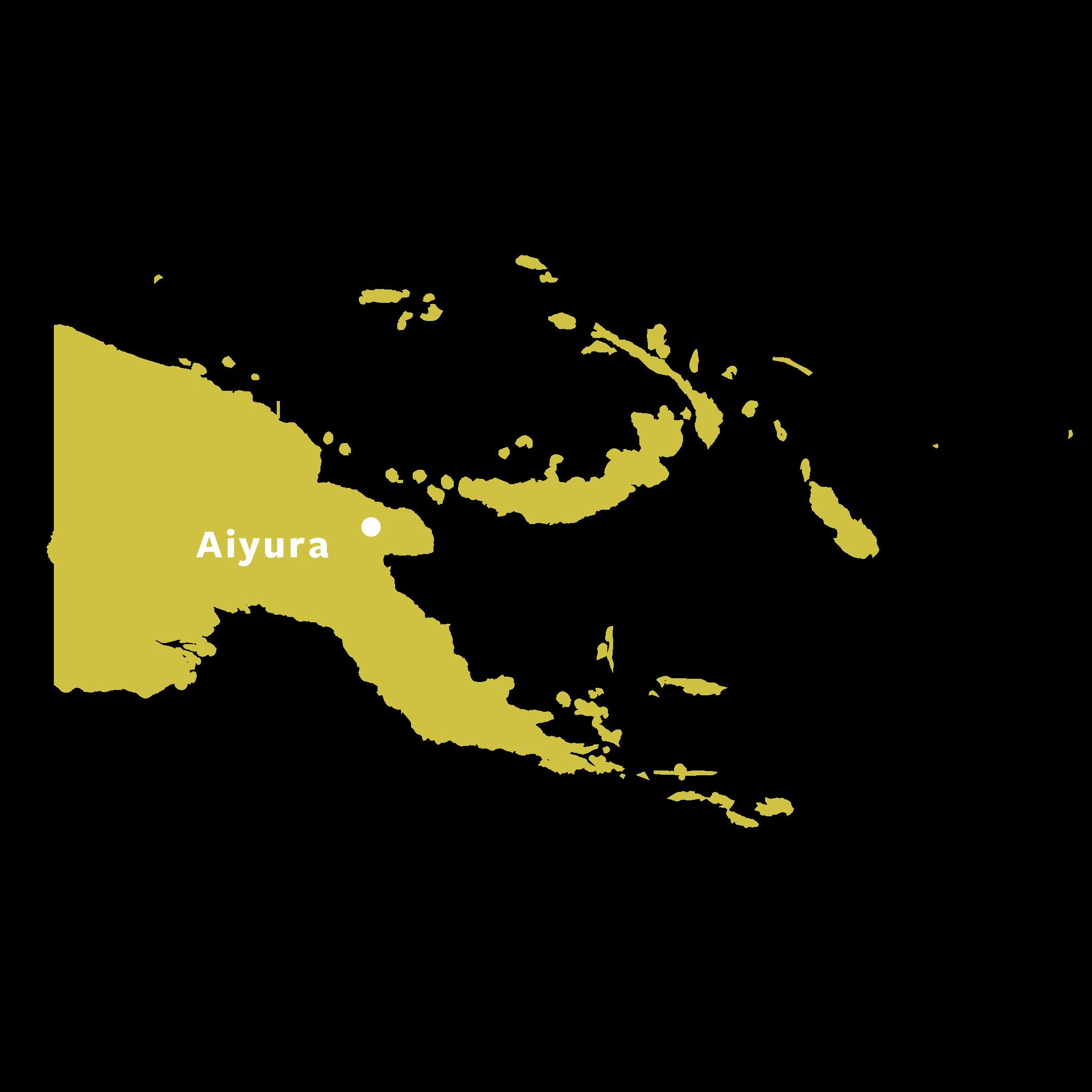 Map of Aiyura, Eastern Highlands, Papua New Guinea