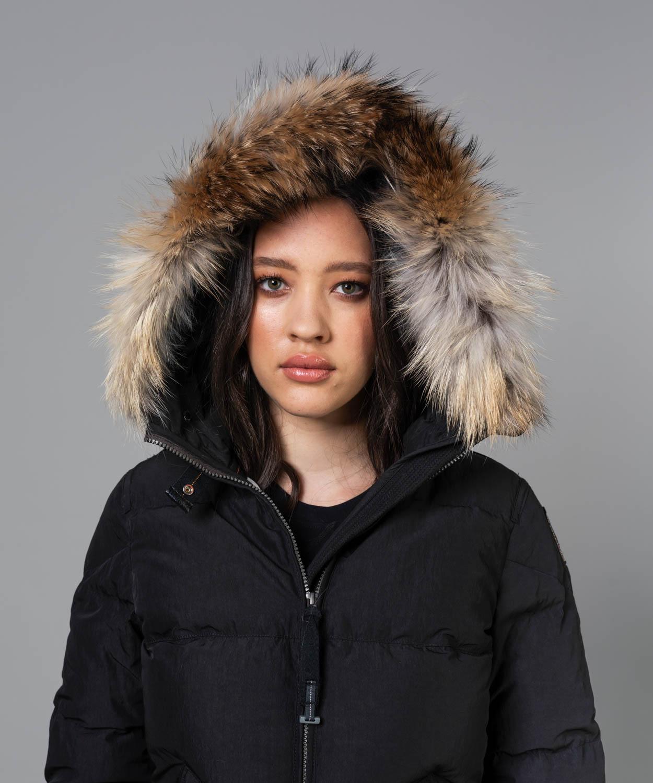 Women's Light Long Bear Hooded Down Coat Sale