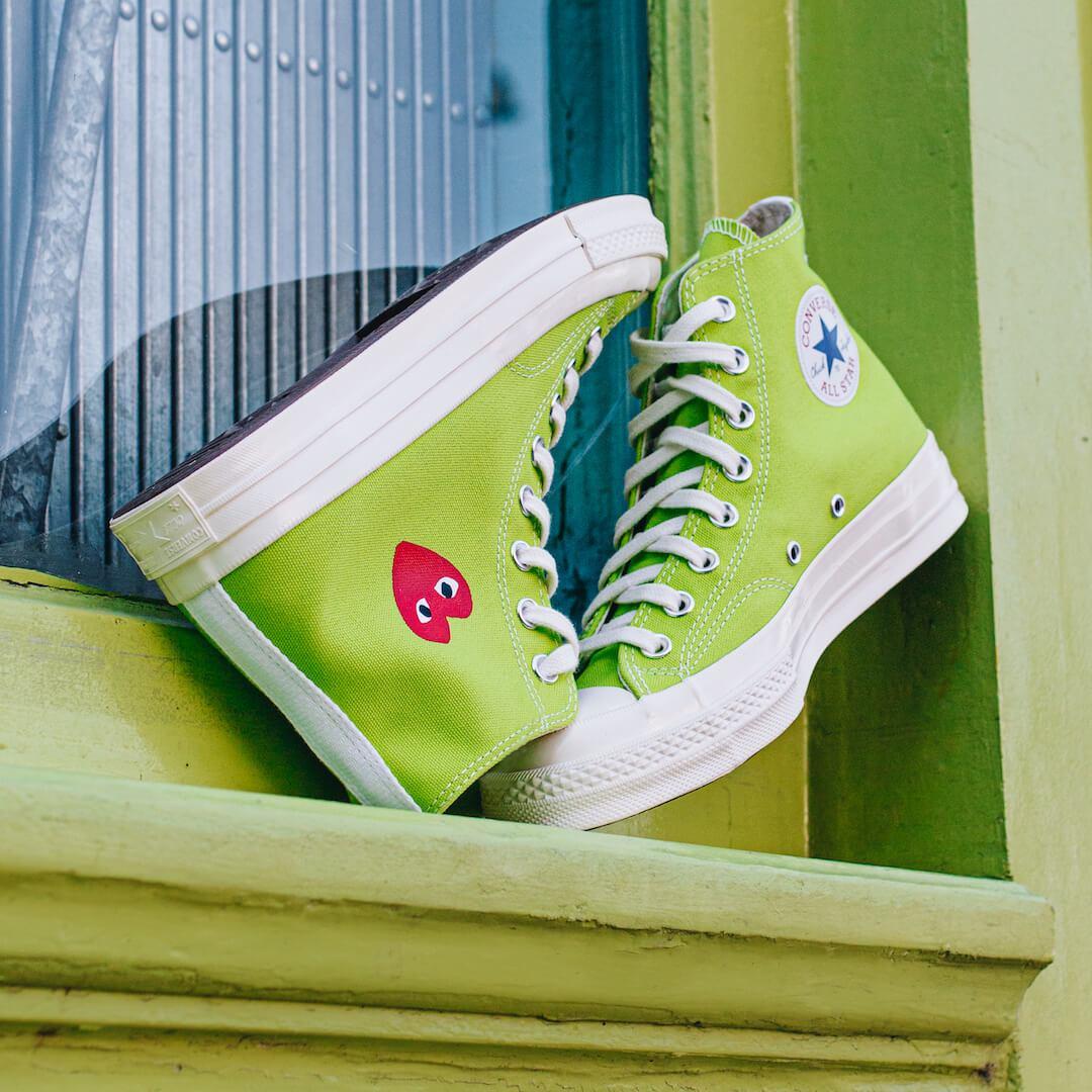 Converse Chuck Taylor All-Star 70s Hi Comme des Garçons Play Bright Green