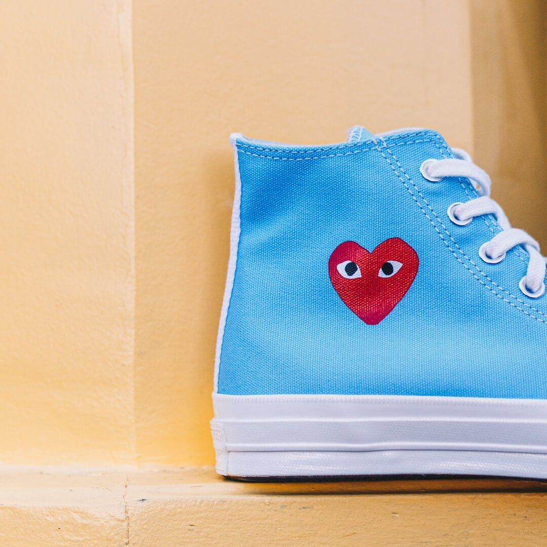 Converse Chuck Taylor All-Star 70s Hi Comme des Garçons Play Bright Blue