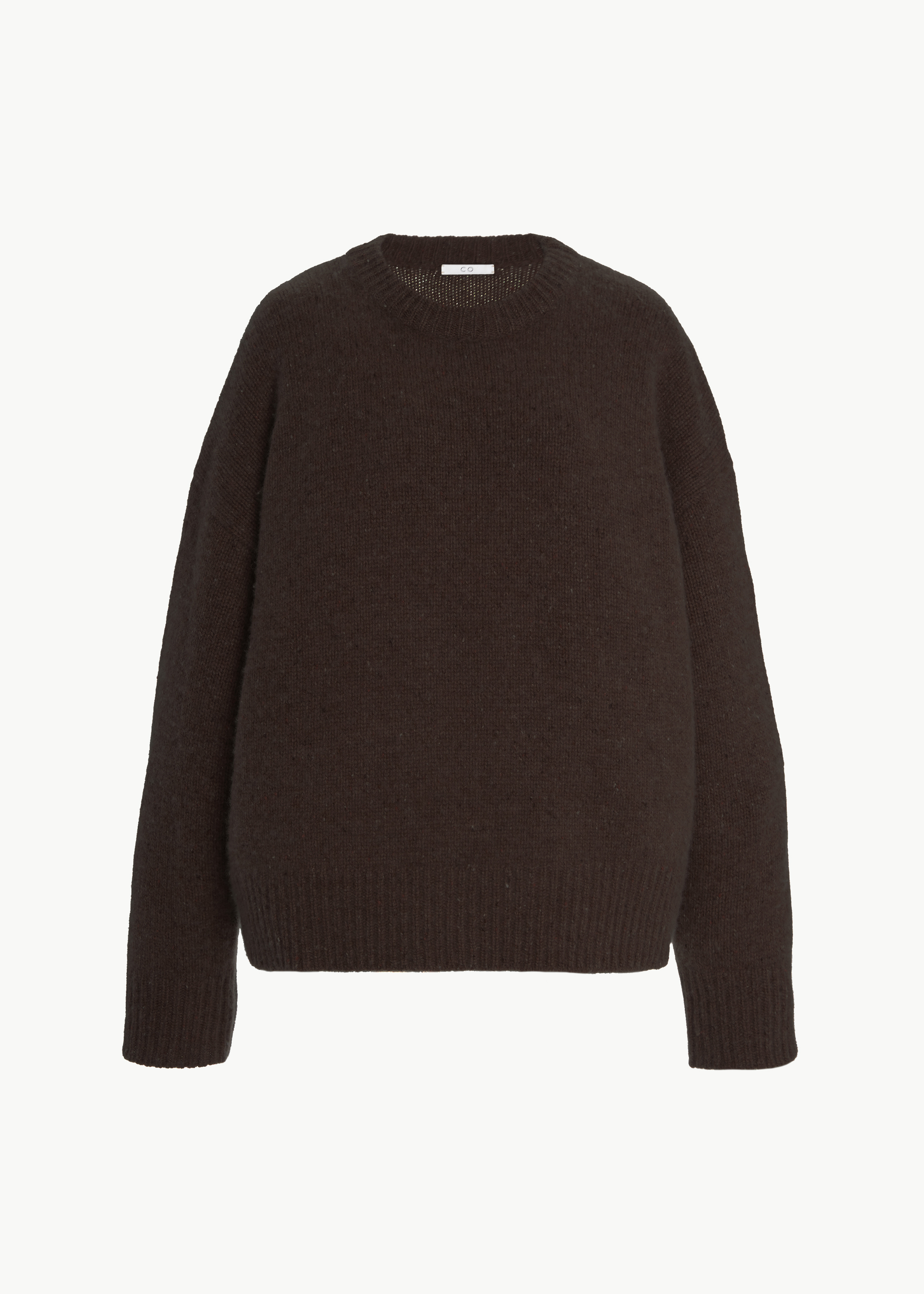 Crew Neck Sweater in Cashmere - Speckled Pecan in Umber Melange by Co Collections