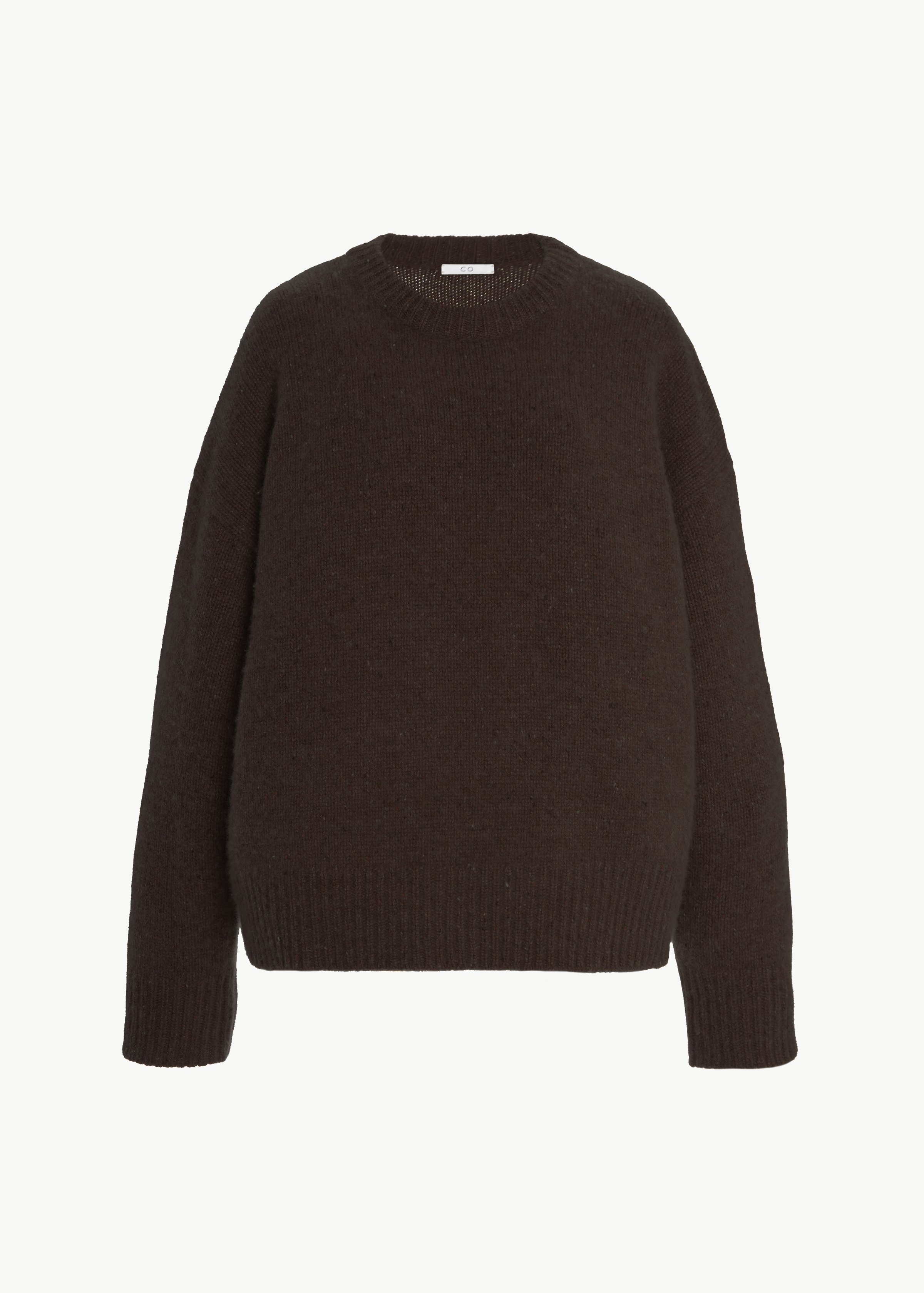 Crew Neck Sweater in Cashmere - Chestnut in Umber Melange by Co Collections