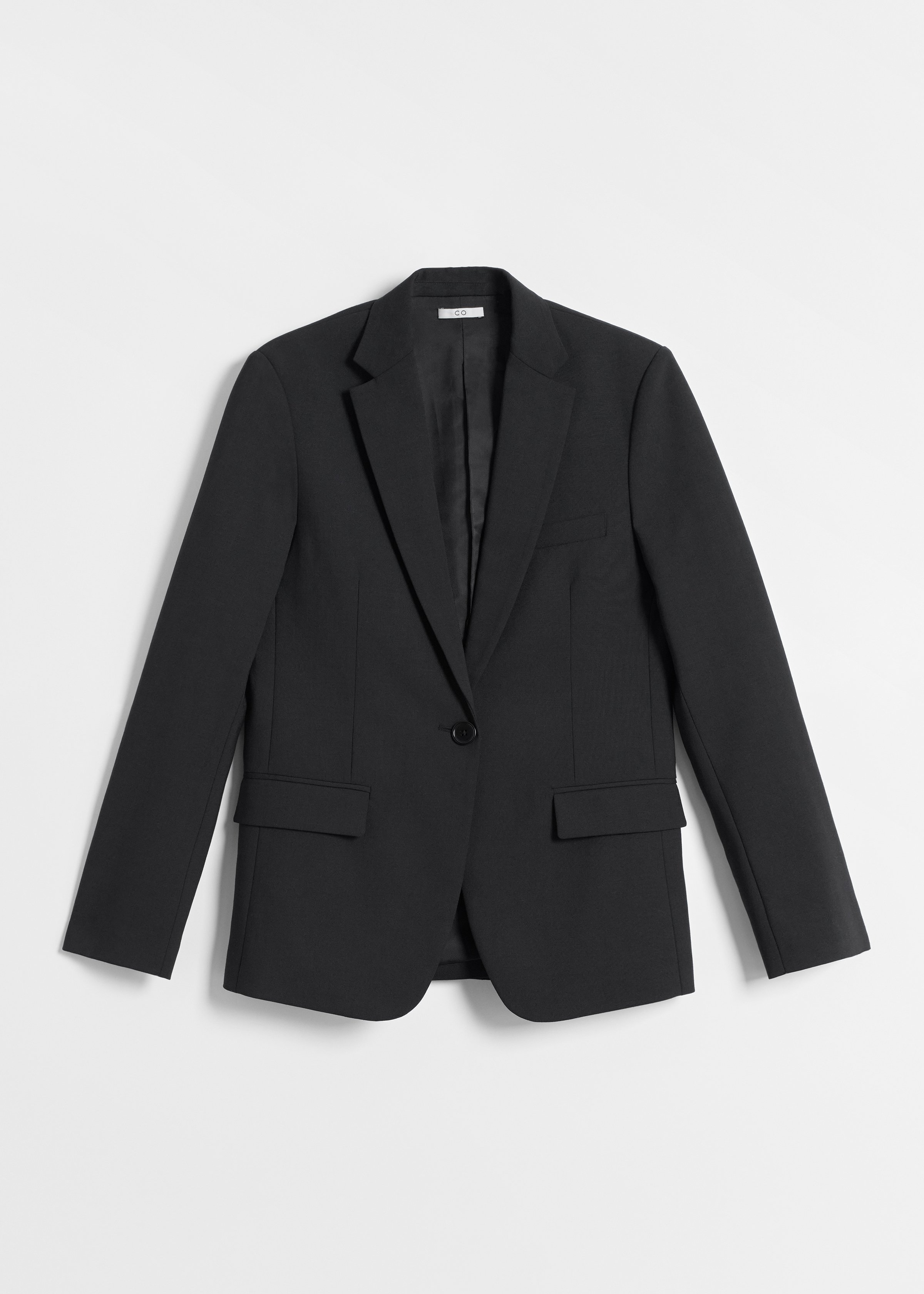 Tailored Blazer in Wool Suiting - Black - CO
