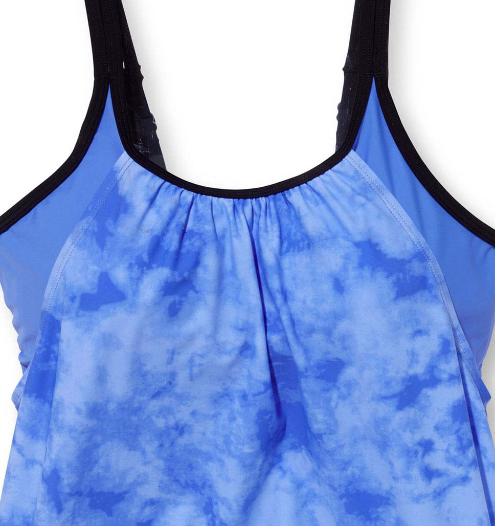 Women's Tie Dye Splash Blouson Tankini