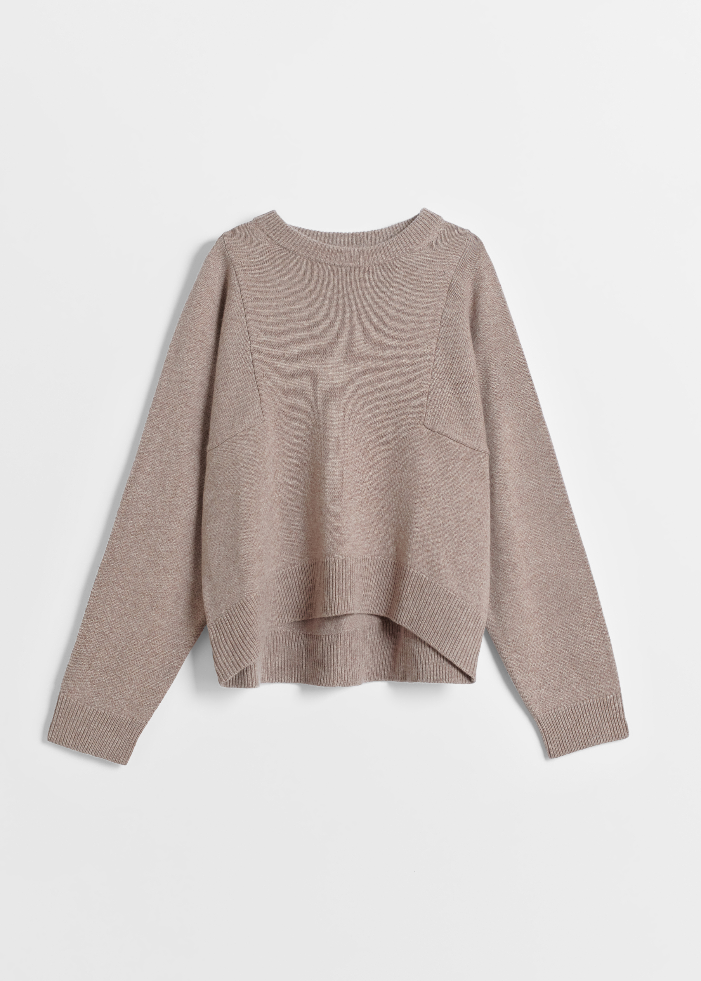 CO - Crew Neck Sweater in Wool Cashmere - Taupe