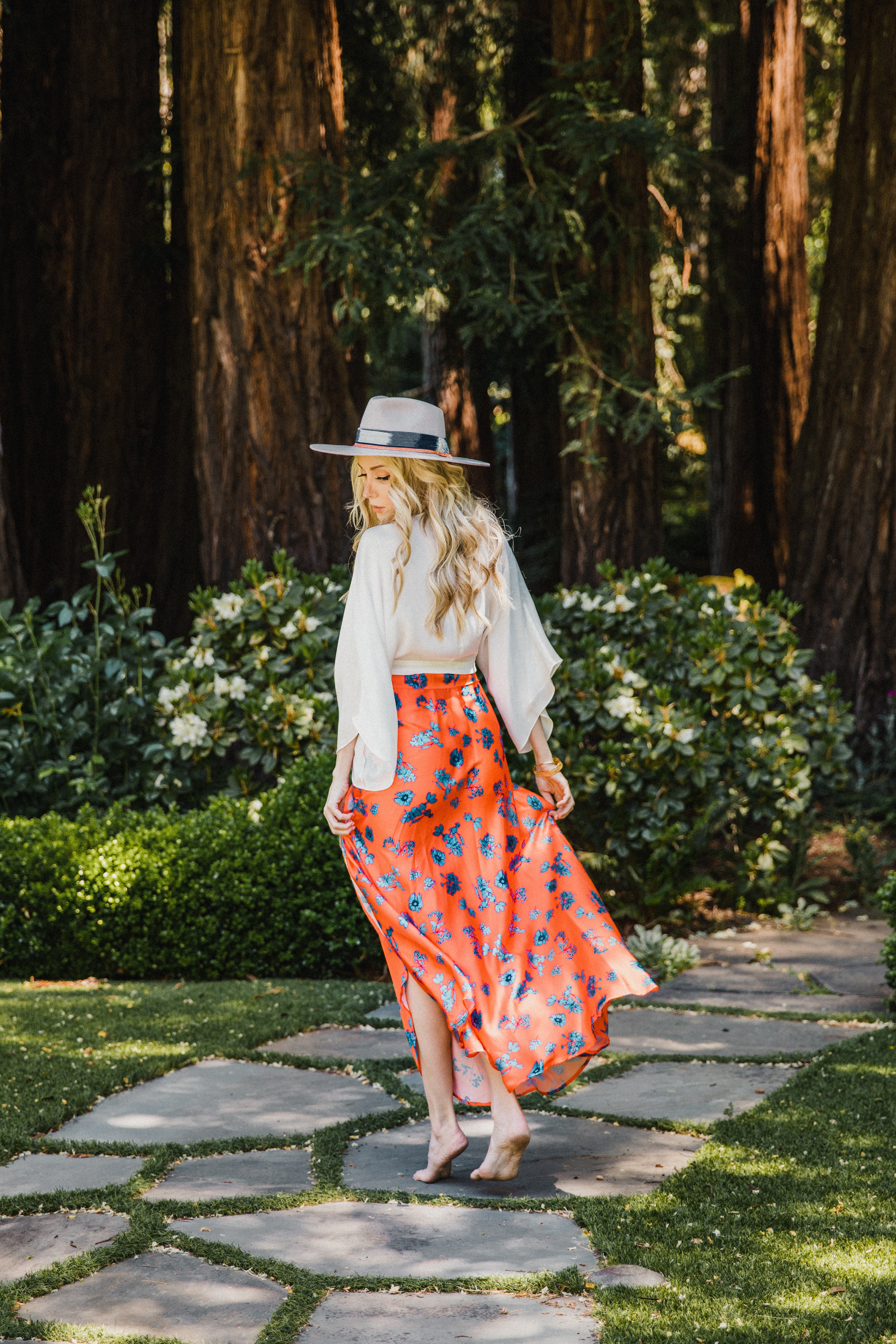 Pre-Order Maxi Skirt in Aix -Multi - Front