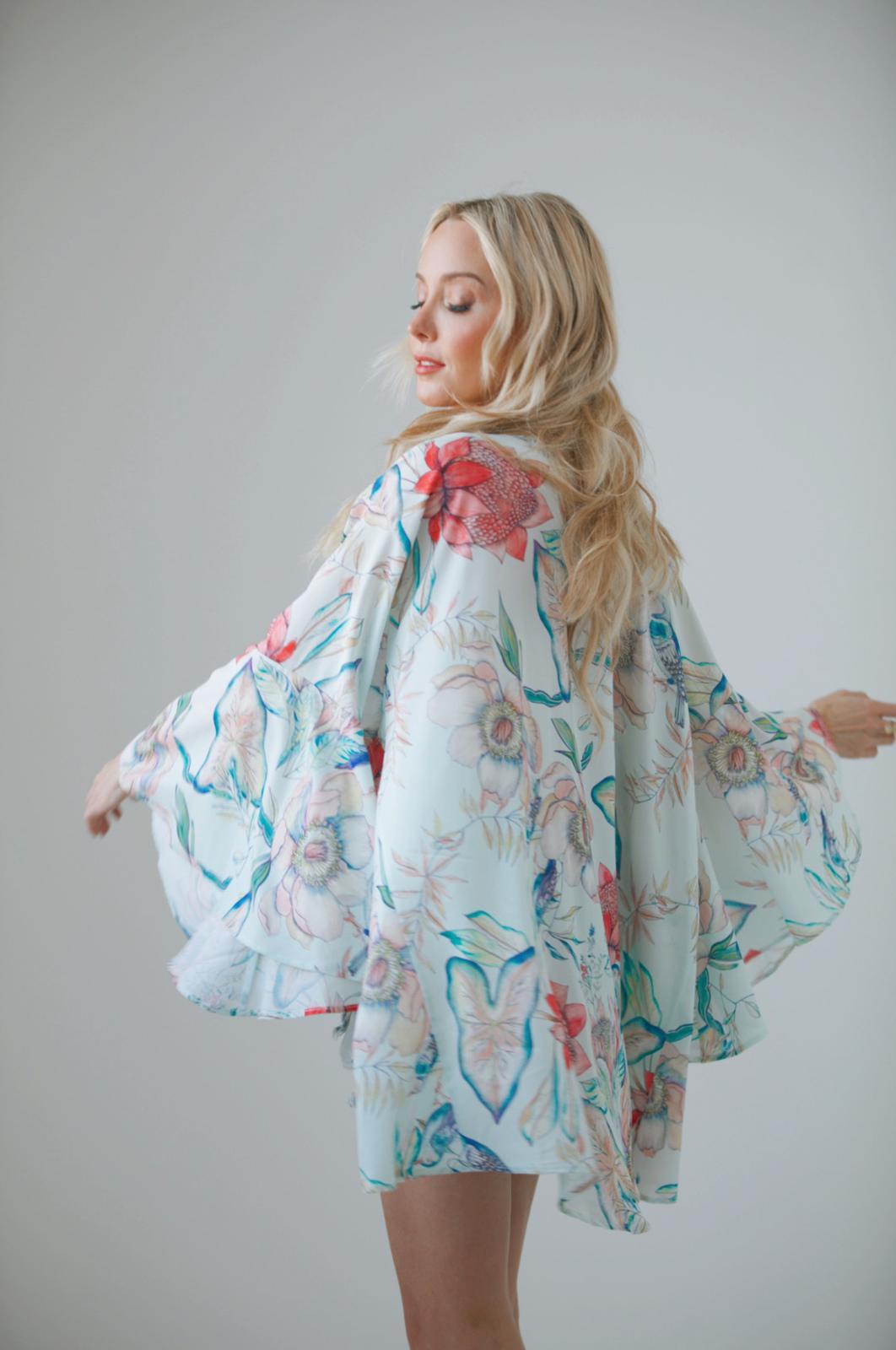 Pre Order Botanica Print Nomade Kimono -Botanica - Front