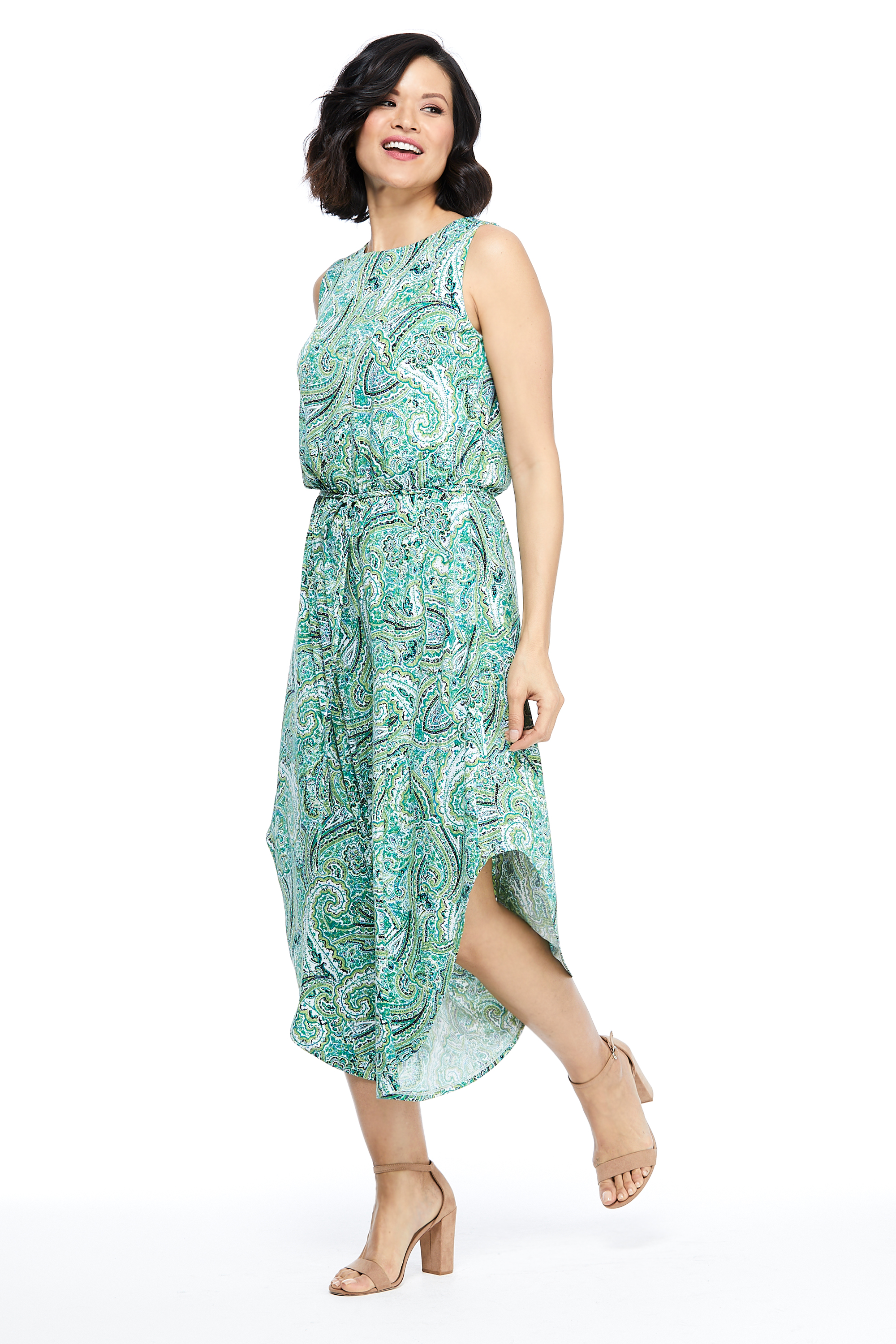 Lalita Paisley Jumpsuit -SWGreen - Front