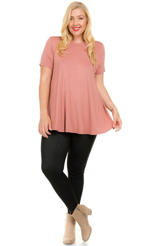 Good-To-Go Tee -Mauve - Front