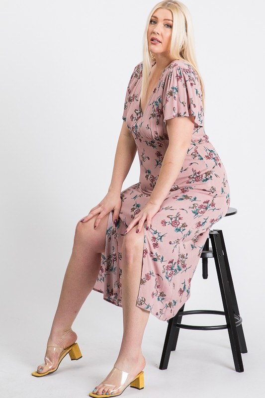 Sunkissed Floral Dress -Pink - Front