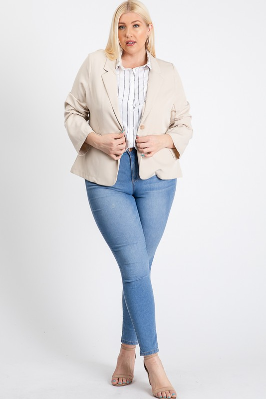 That Formal Look Blazer -Khaki - Front