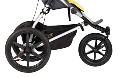 a true all terrain, 3-wheel performance with the air filled tires