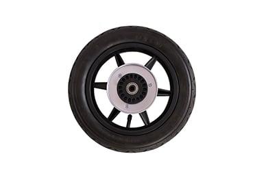 """utilisation urbaine avec des pneus de 12"""" à air véritable, roue arrière incluse"""