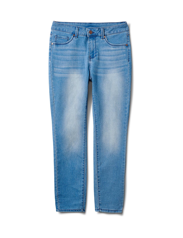 5 Pocket Skinny Ankle Jean -Medium Wash - Front