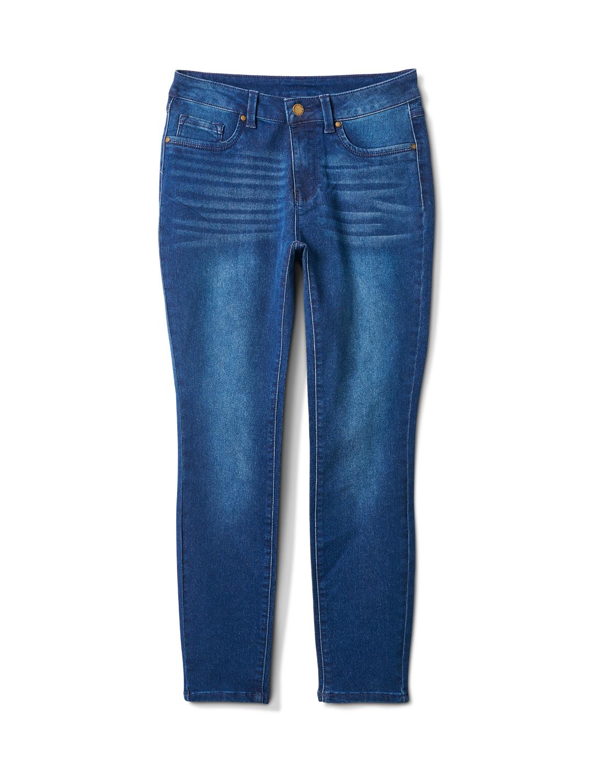 5 Pocket Dark Wash Skinny Ankle Jean -Dark Wash - Front