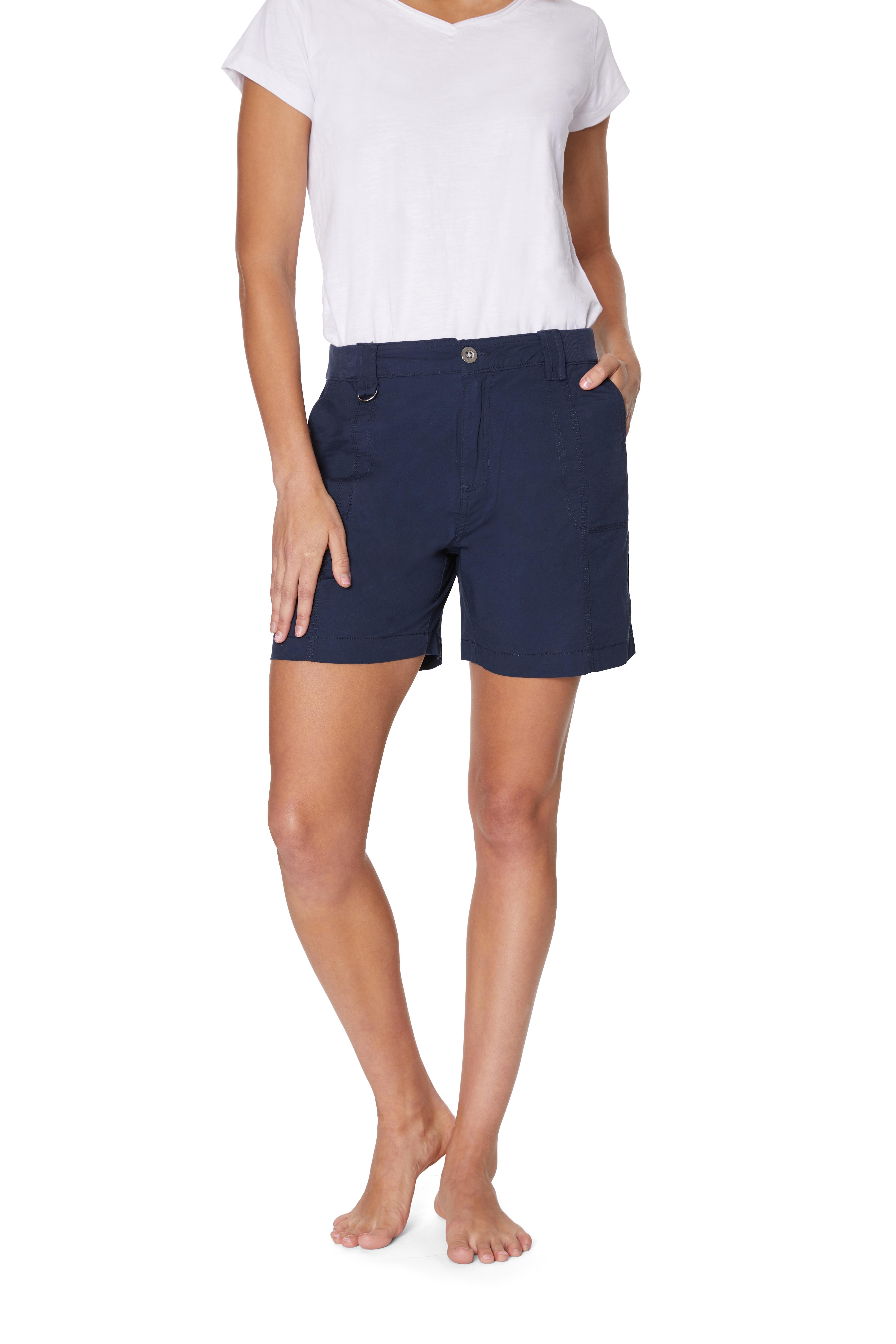 Caribbean Joe® Cotton Short -Navy - Front