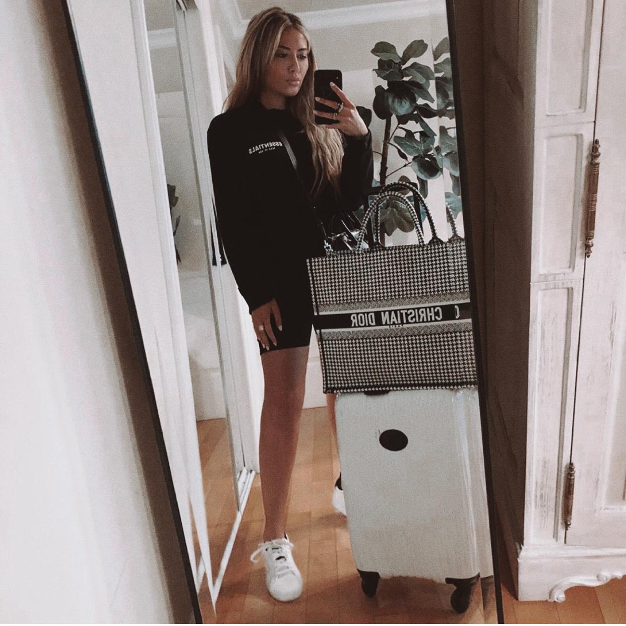 Woman wearing Lee Metal 40mm Multi-Time Zone Watch - IceLink