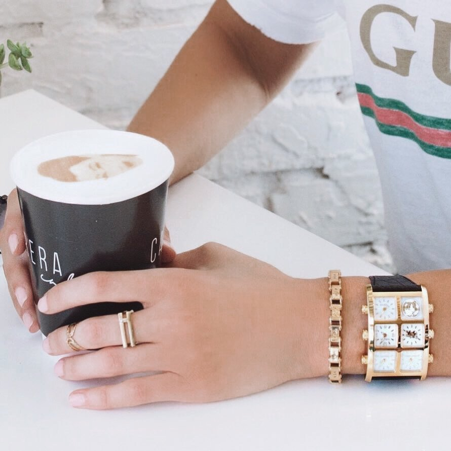 Coffee with Mai 40mm Multi-Time Zone Watch - IceLink