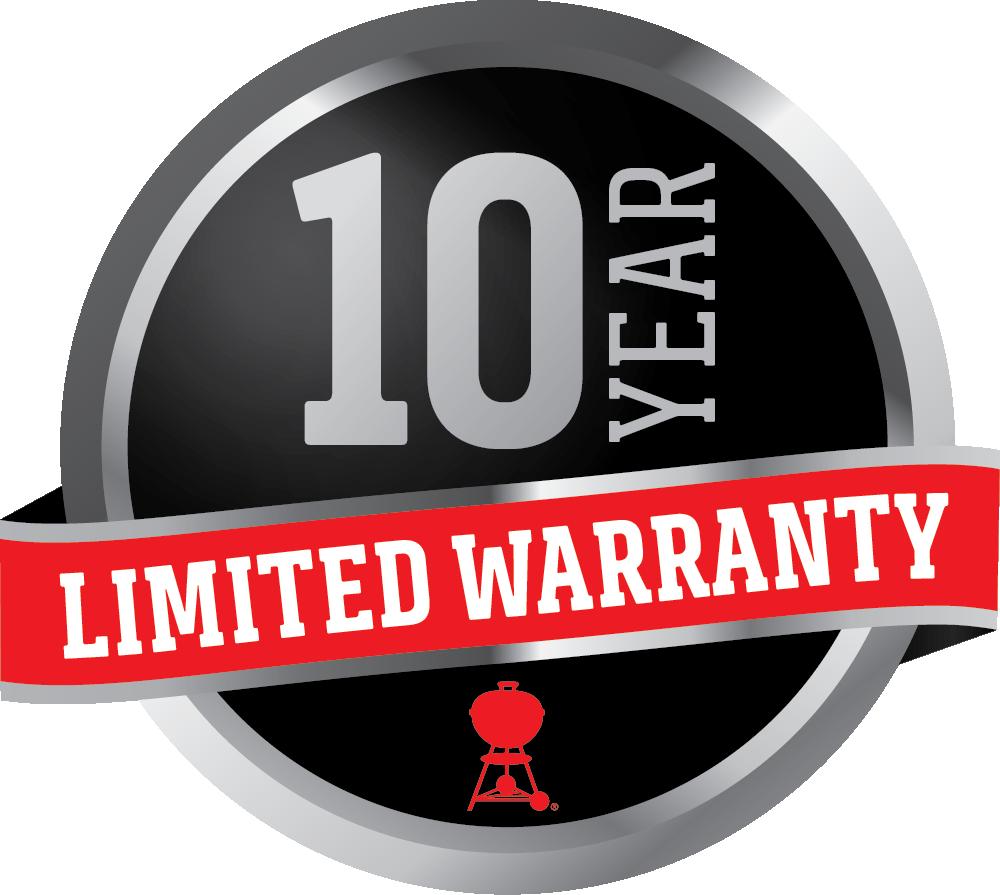 Weber 10 Year Limited Warranty