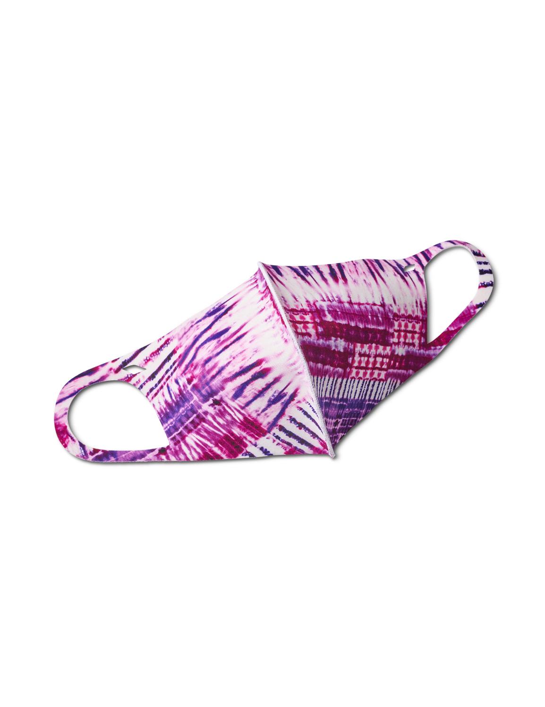 PRE ORDER Batik Tie Dye Anti-Bacterial Fashion Face Mask -Purple - Front