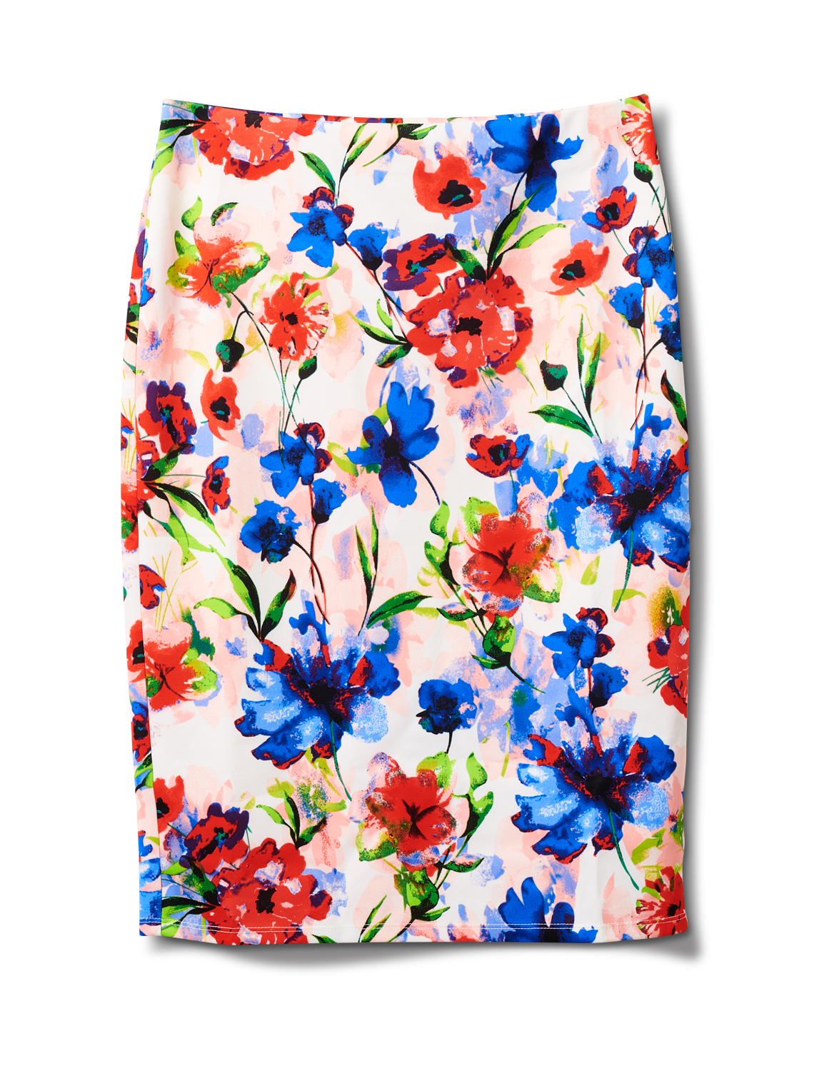 Printed Pull On Scuba Crepe Skirt -Sugar Swizzle - Front