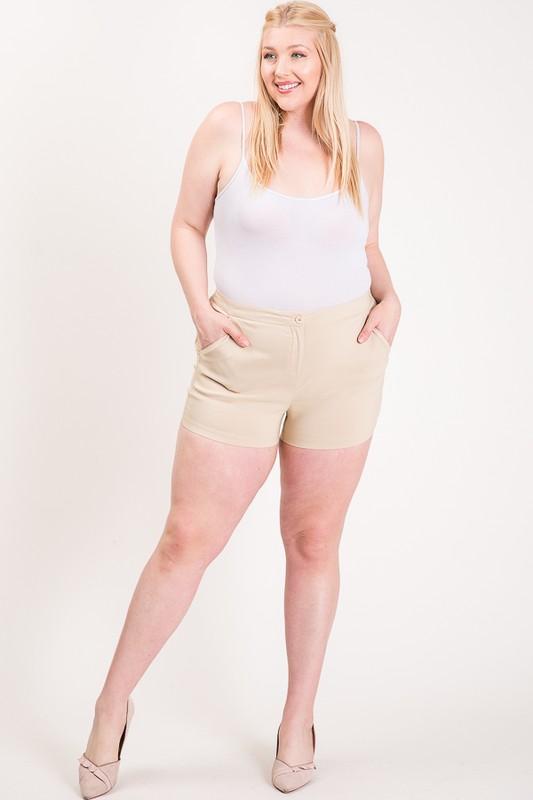 Hot Shorts For Hot Summer Days -Khaki - Front