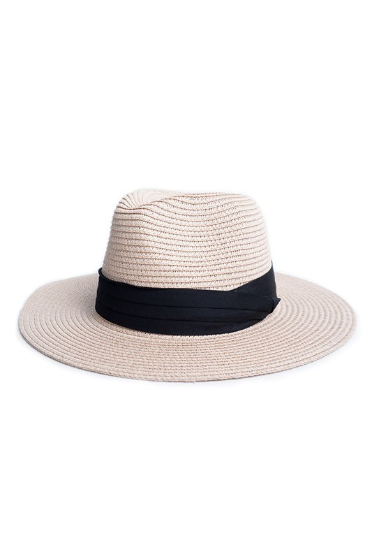 Pre-Order Spring/Summer Women's Wide Brim Hat -Pink - Front