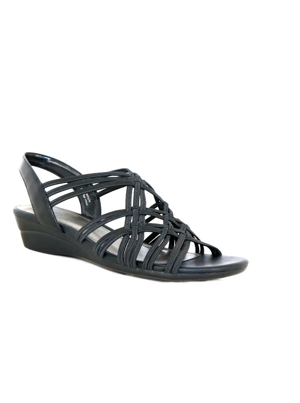 Impo Rainelle Wedge Sandal -black - Front