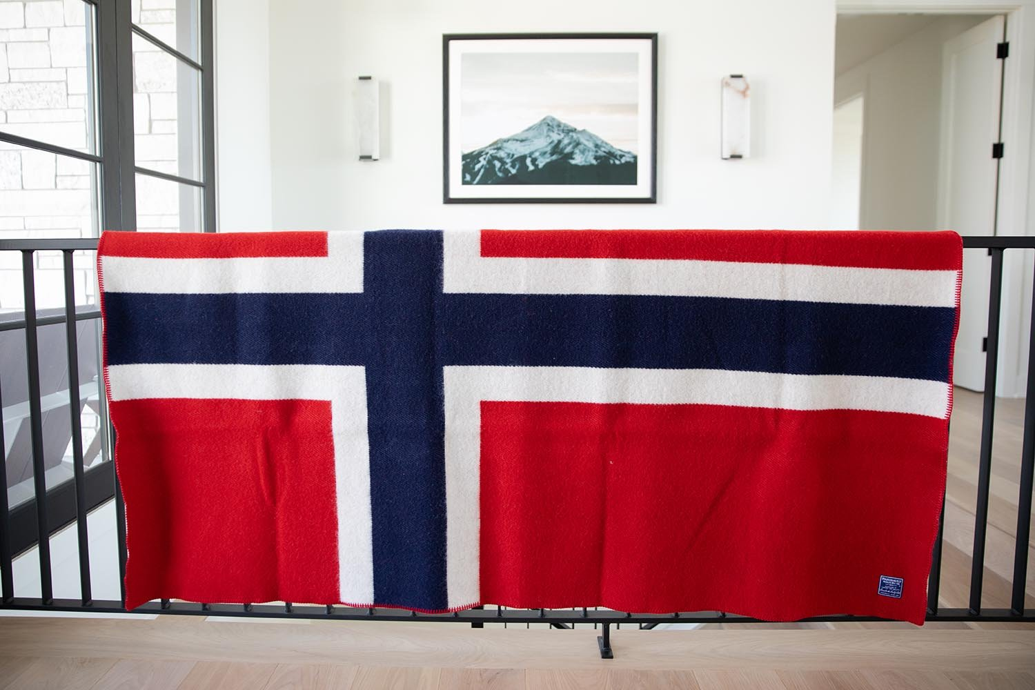 image of Norwegian Flag Wool Throw