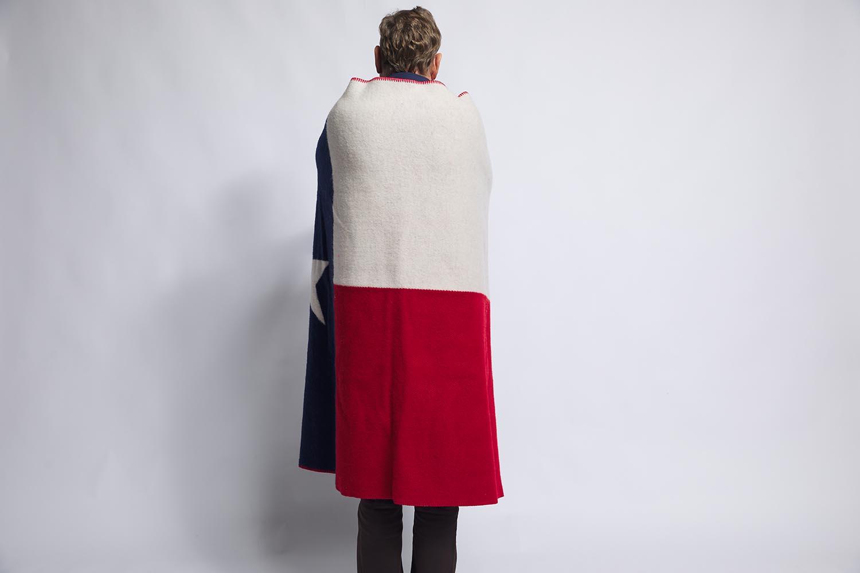 image of Texas Flag Wool Throw