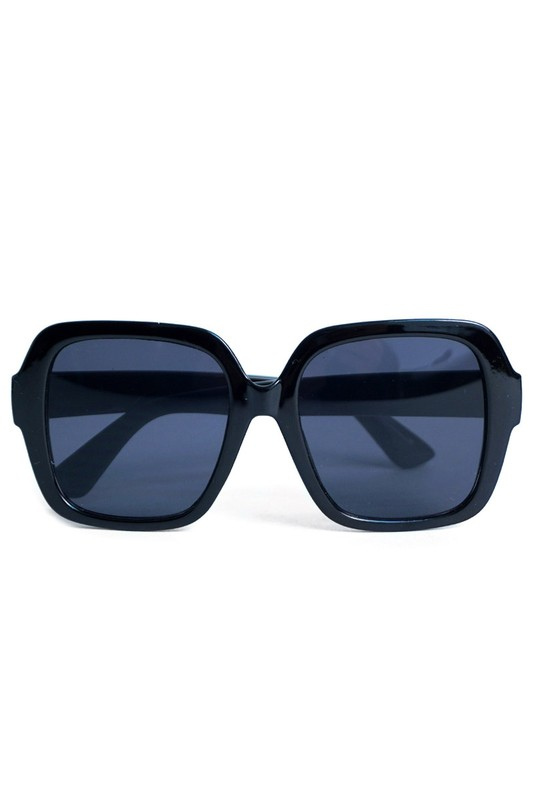 Black Oversized Sunglasses -Black - Front