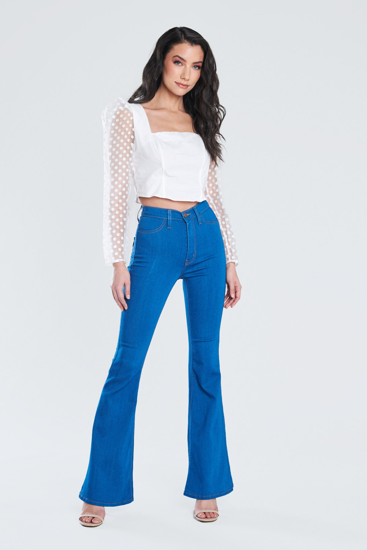 Perfect Fit Flare Jeans -PB - Front