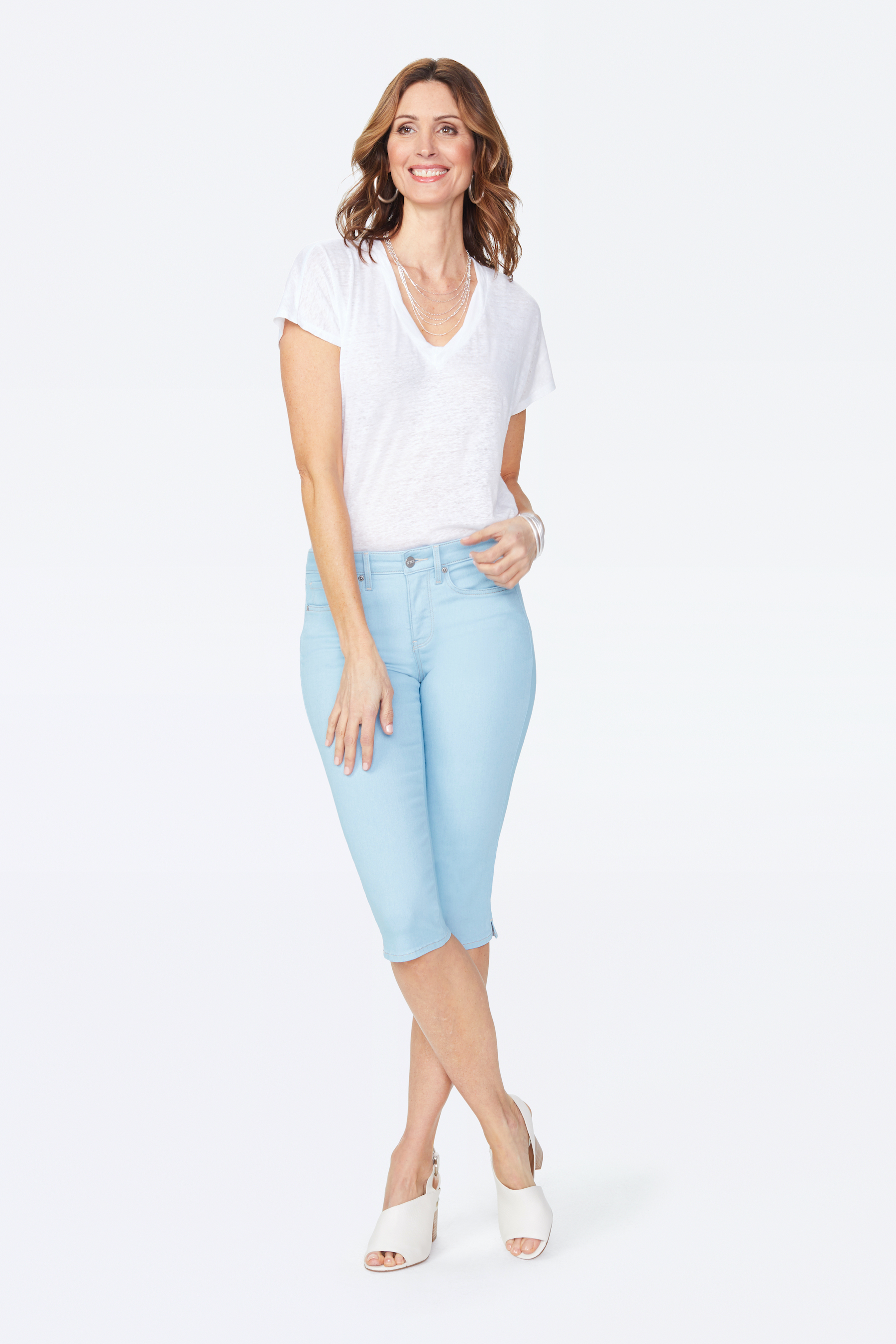 PRE ORDER NYDJ Skinny Capri Pants -Mica - Front