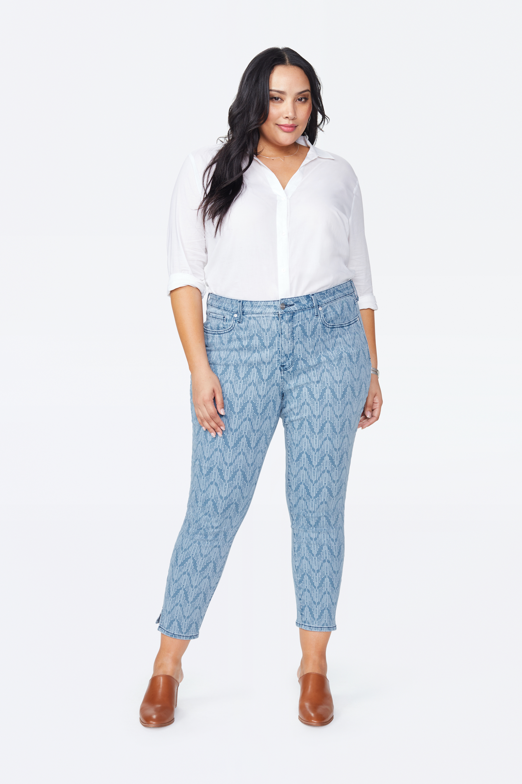 PRE ORDER NYDJ Ami Skinny Ankle Arrowhead Print Jeans -Arrowhead - Front