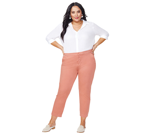 PRE ORDER NYDJ Everyday Sateen Trousers -Canyon Clay - Front