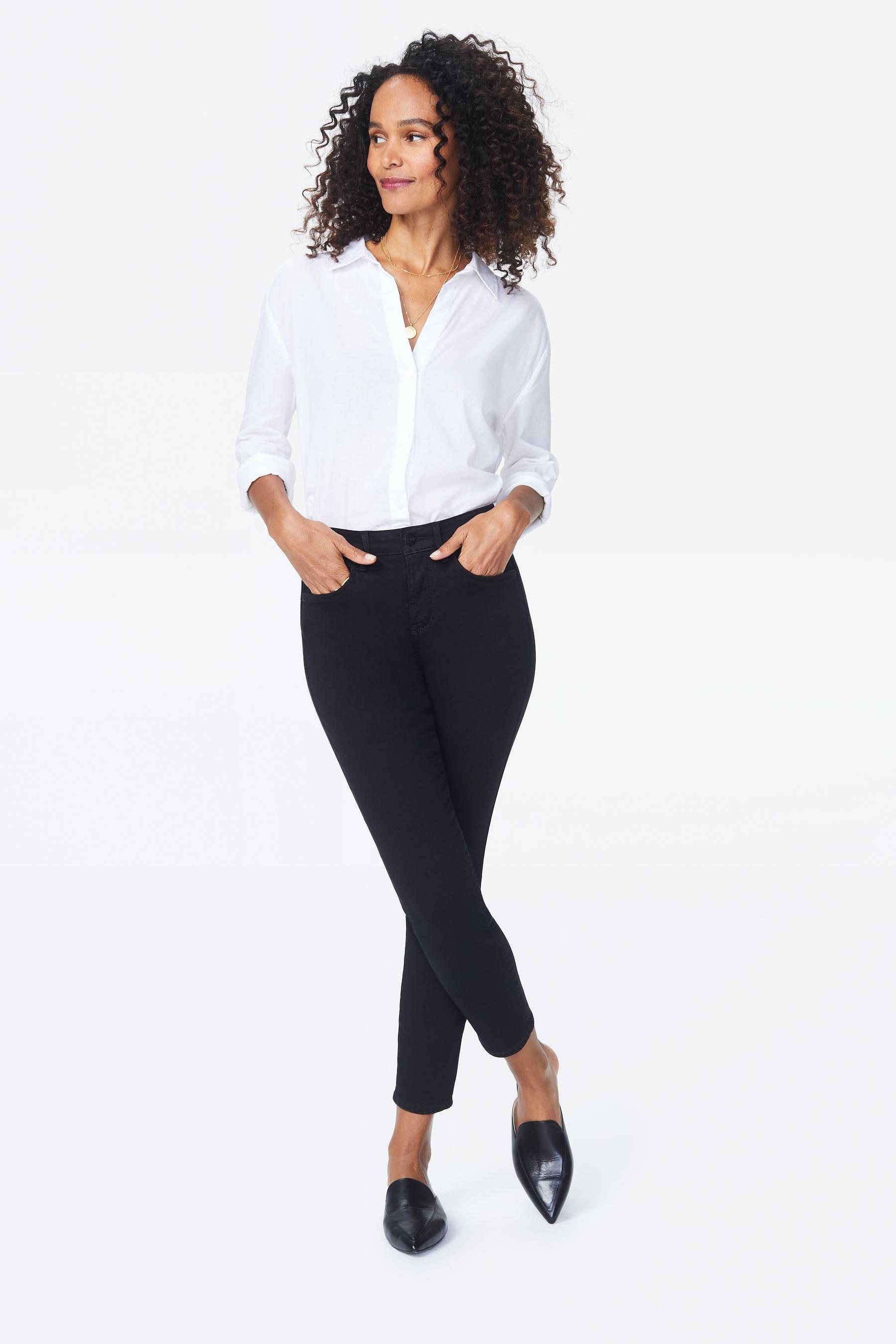 PRE ORDER NYDJ Skinny Ankle Jeans -Black - Front