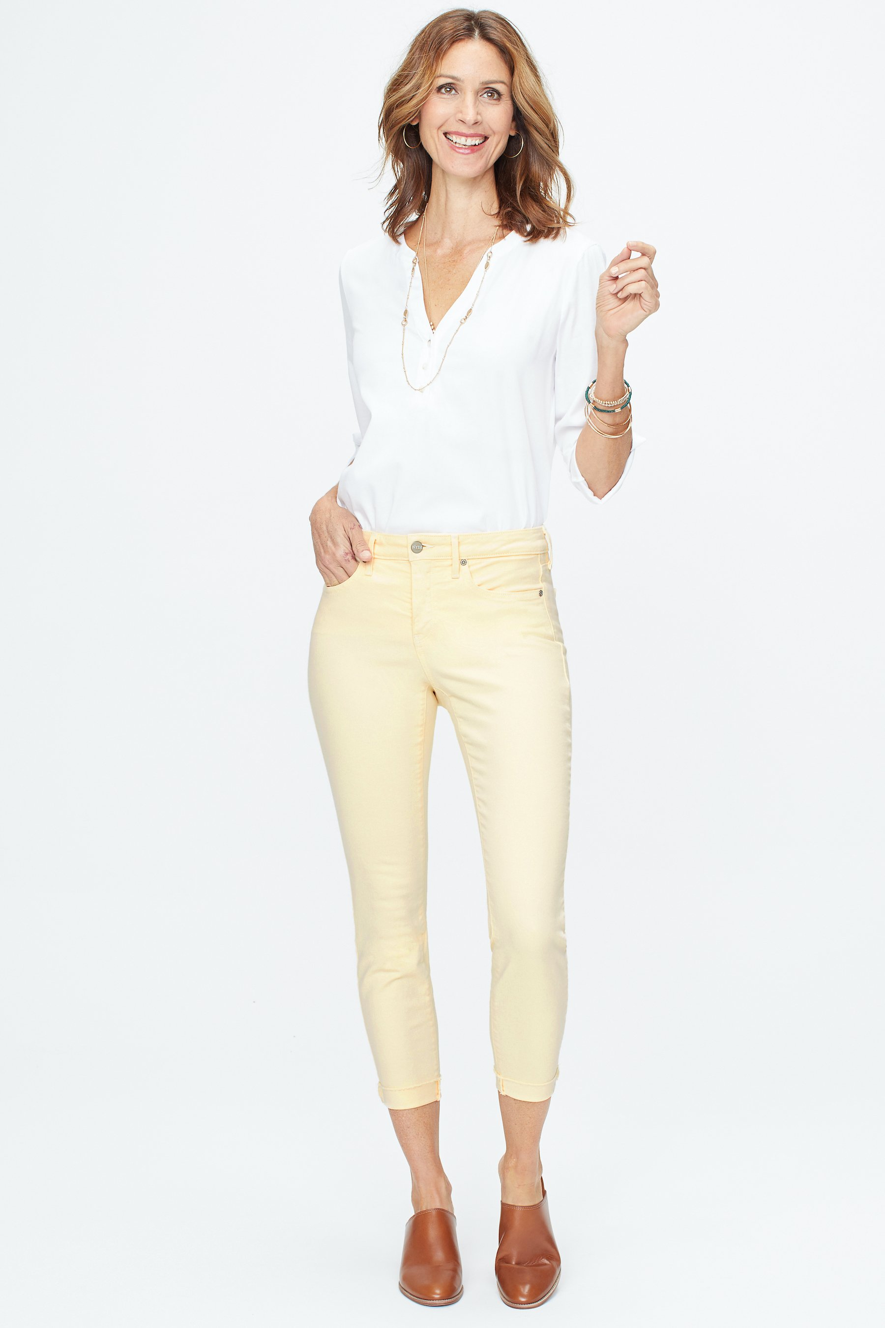 PRE ORDER NYDJ Ami Skinny Cuff Ankle Jeans -Marigold - Front