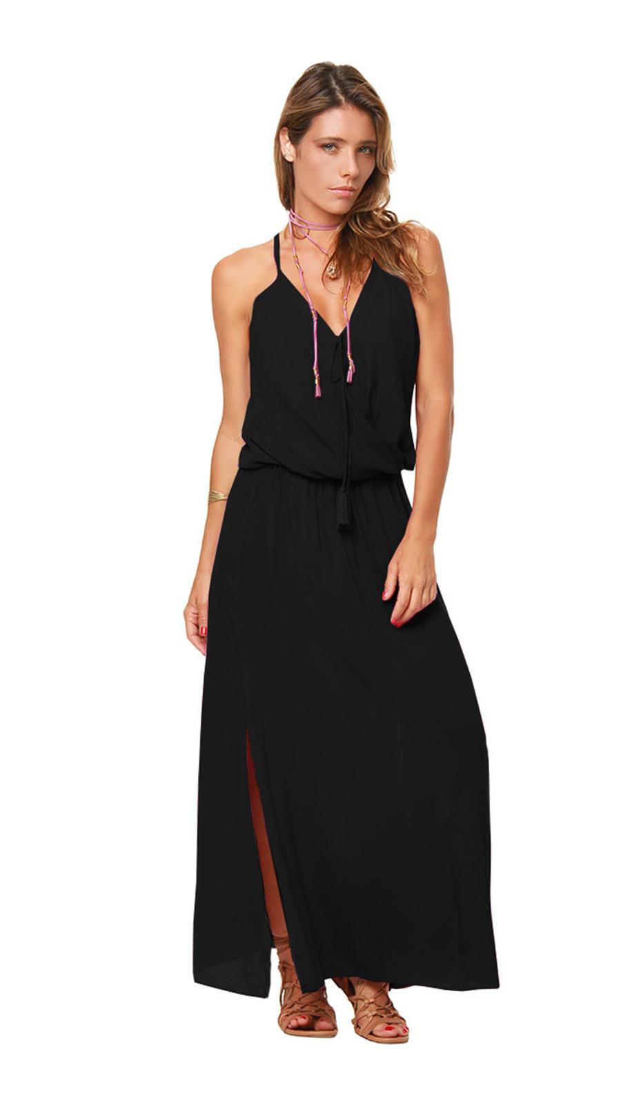 Pre-Order Sunstar Dress -Black - Front