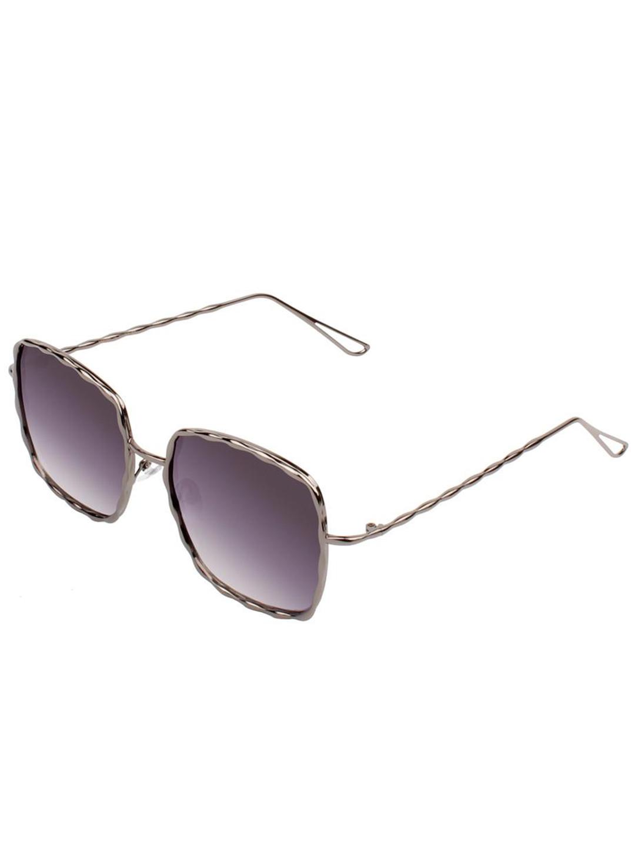 Pre-Order Fashionable Square Sunglasses -Gray-Purple - Front
