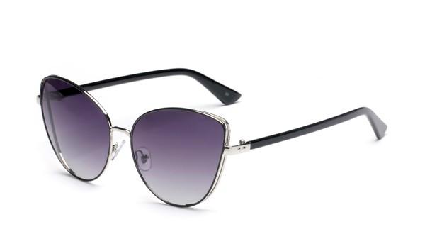 Women Cat-Eye Sunglasses -Gradient Purple - Front
