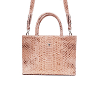 SAC MINI CHARLIE - PYTHON ROSE GOLD